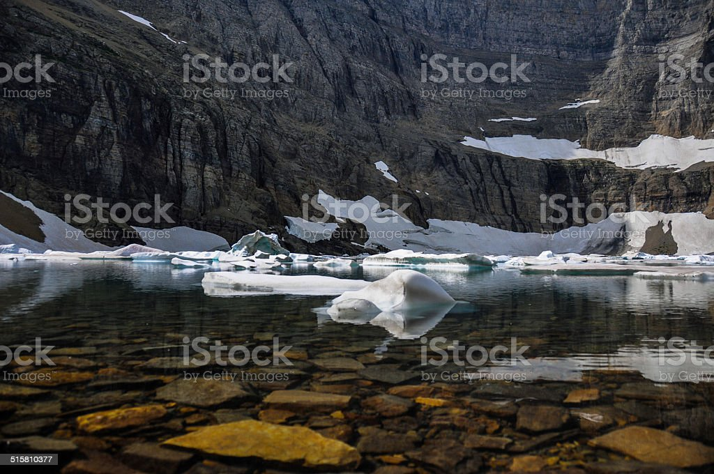 Iceberg Trail in Glacier National Park, Montana, USA stock photo