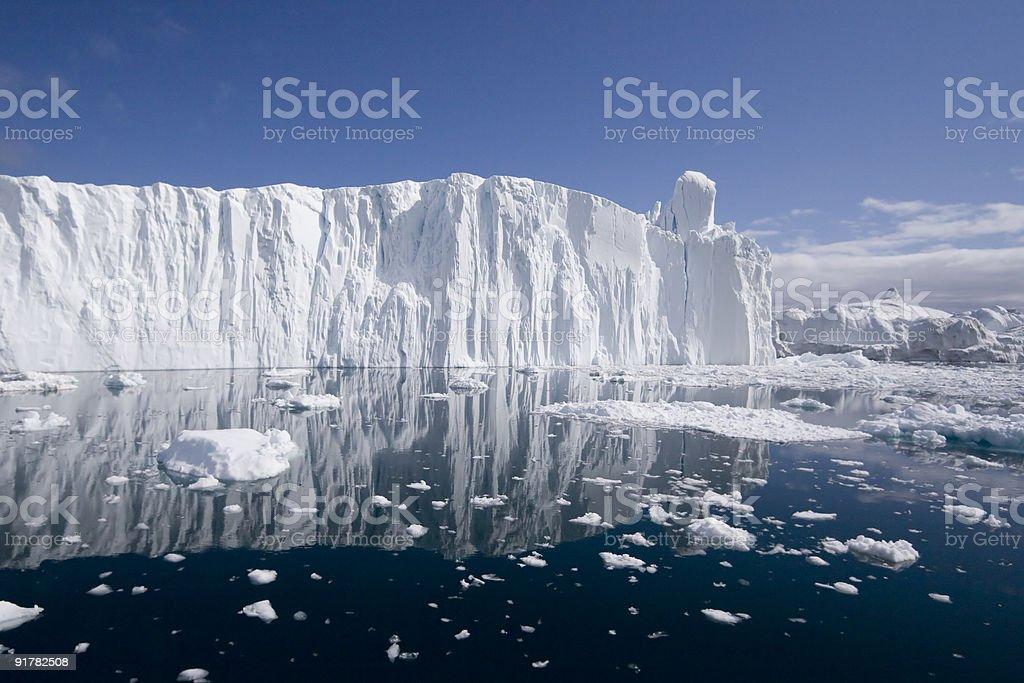 Iceberg wall stock photo