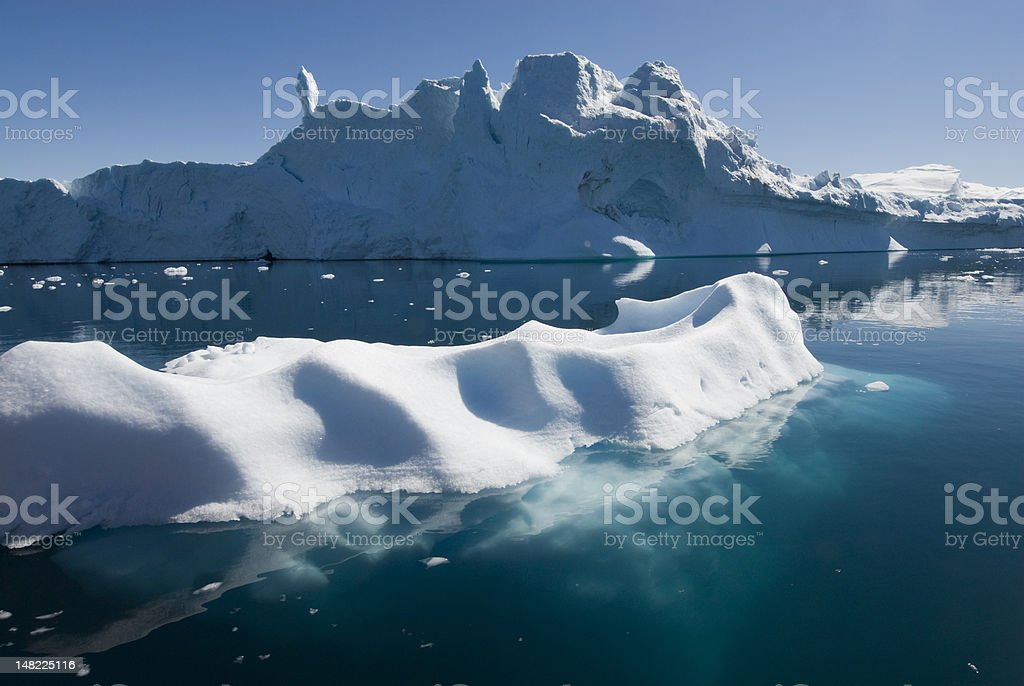 Iceberg with an underwater view. royalty-free stock photo