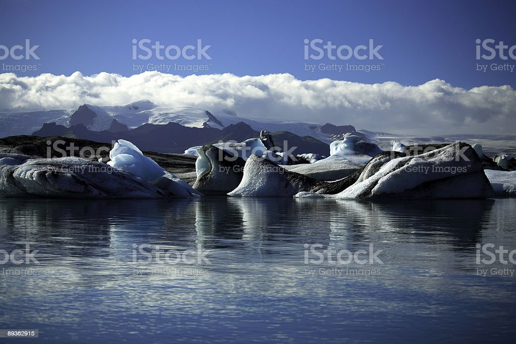 Icebergs and glaciers royalty-free stock photo