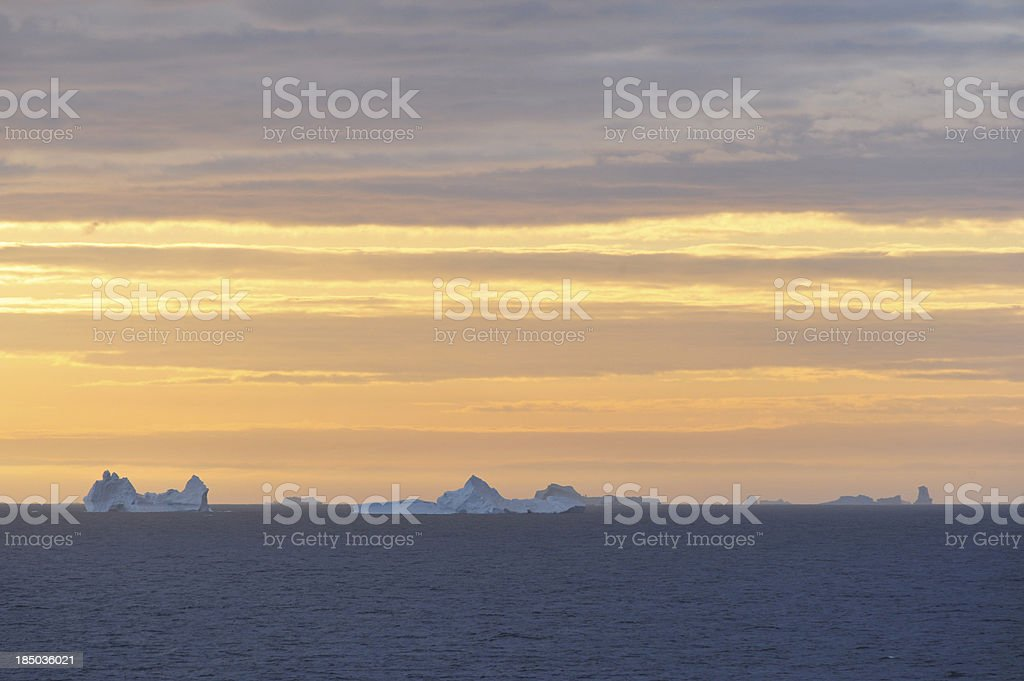 Icebergs floating in the Davis Straights, Greenland royalty-free stock photo
