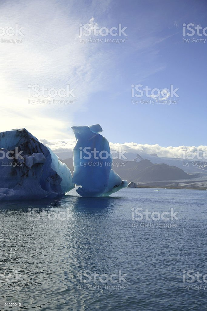 Icebergs, Iceland stock photo
