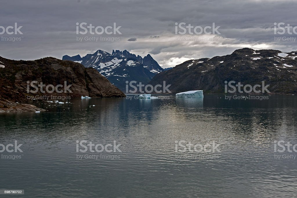 Icebergs in Greenland stock photo