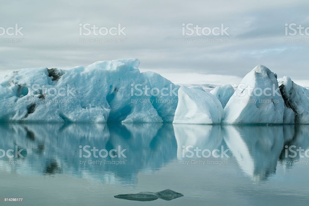 Icebergs in Iceland stock photo