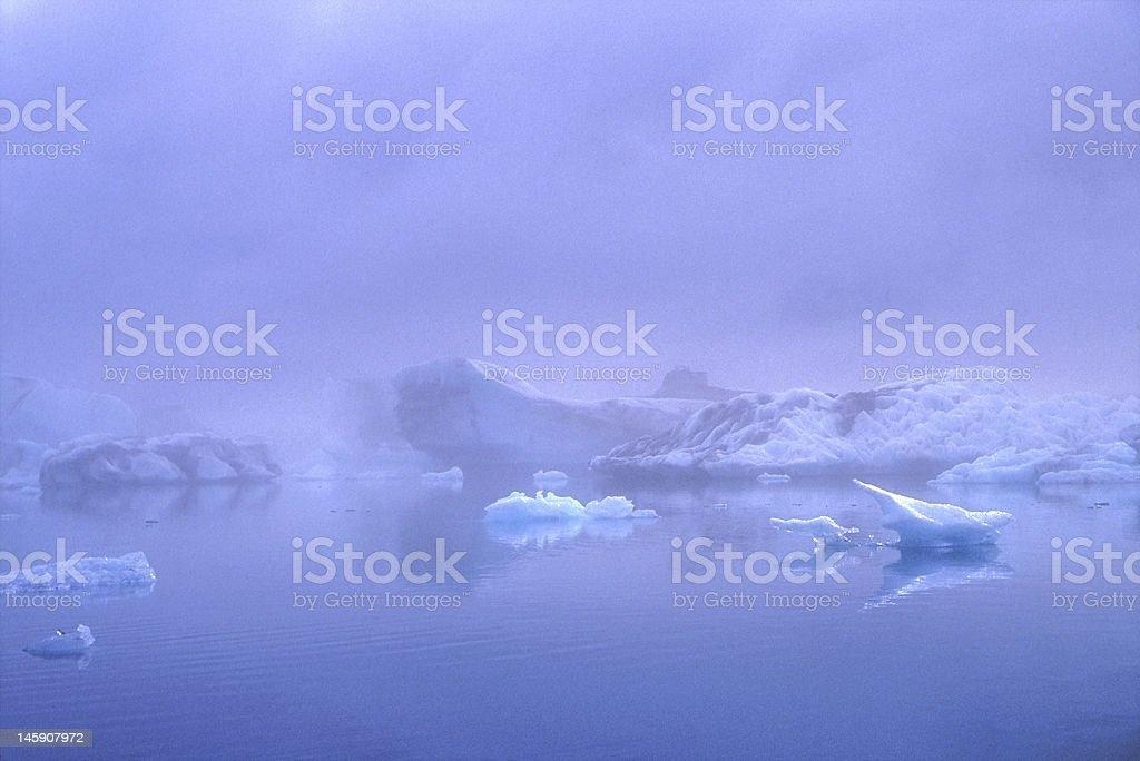 Icebergs in the Jokulsarlon lagoon, Iceland stock photo