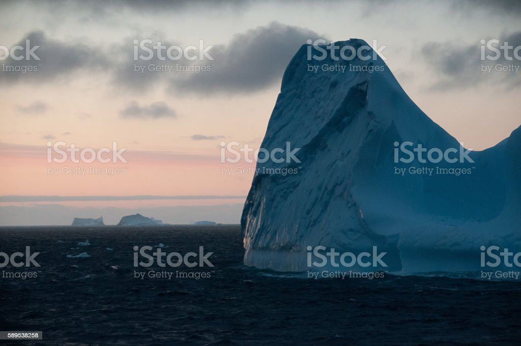 Icebergs in the south atlantic ocean stock photo