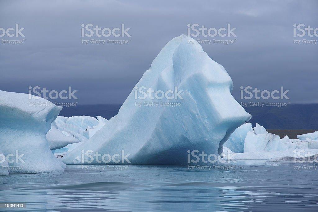 Icebergs: Jökulsárlón glacial lake in Iceland stock photo