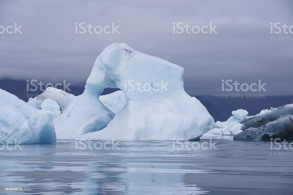 Icebergs: Jökulsárlón glacial lake in Iceland stock photo