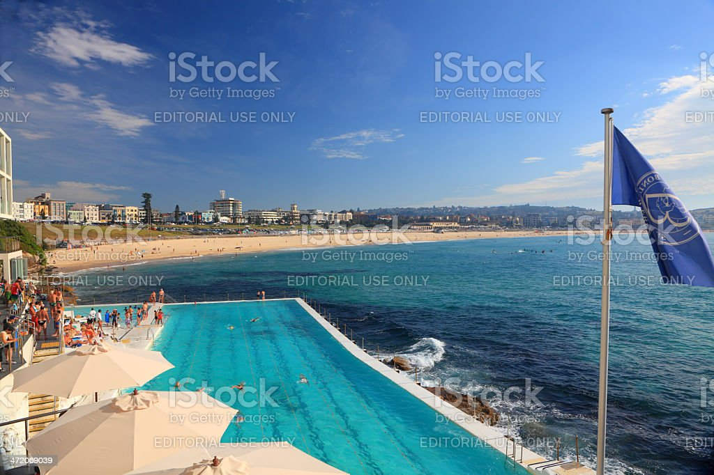 Icebergs Pool and Bondi Beach, Australia stock photo