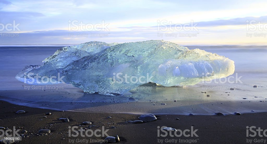 Iceburg Sunset royalty-free stock photo