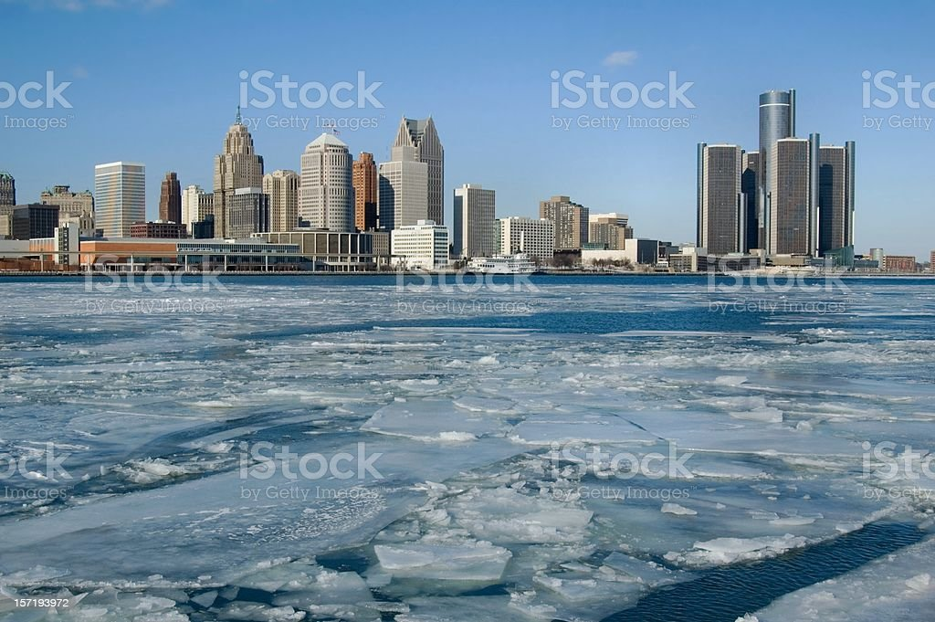 Ice-cold Detroit royalty-free stock photo