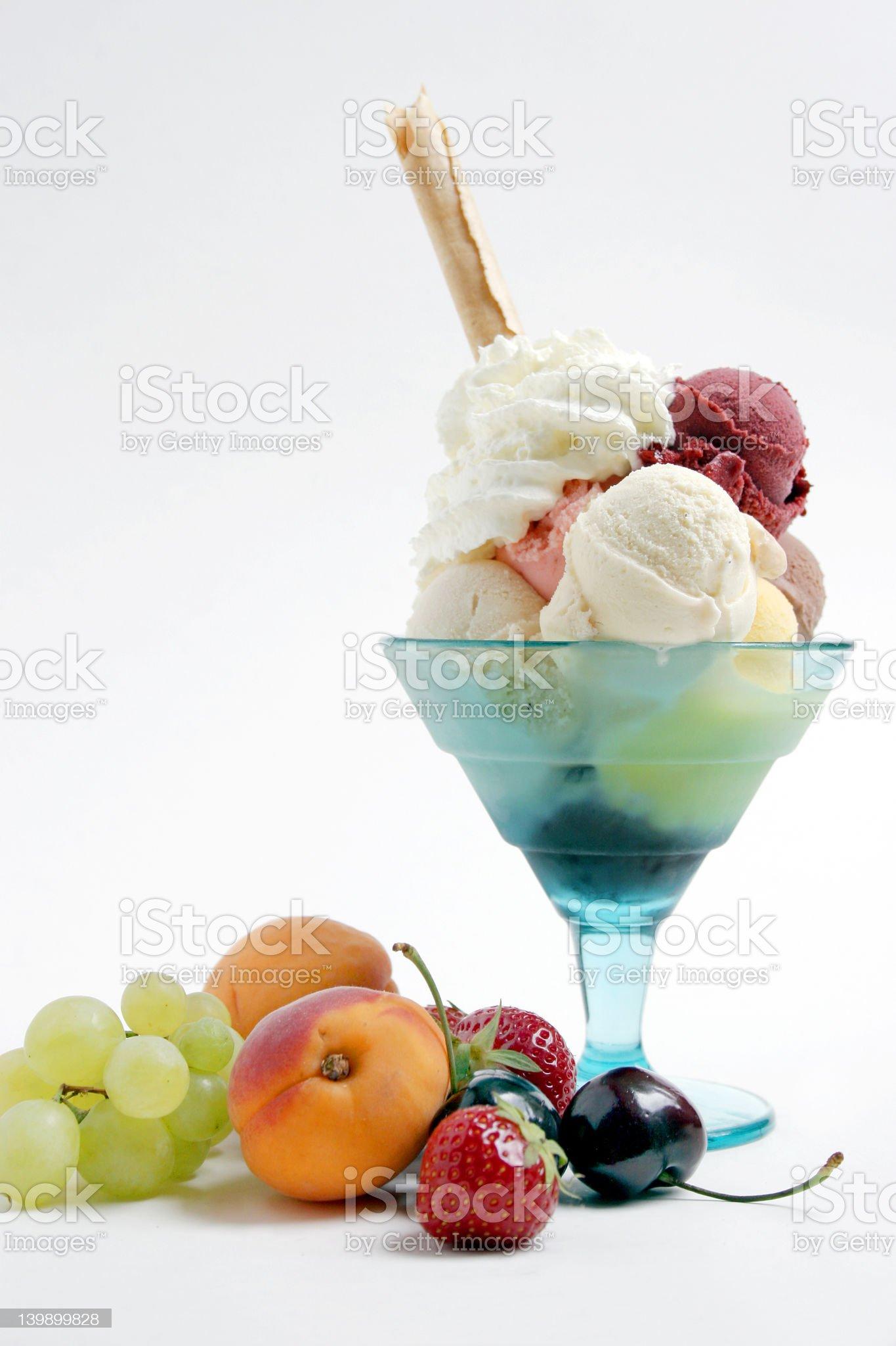 icecream and fruits royalty-free stock photo