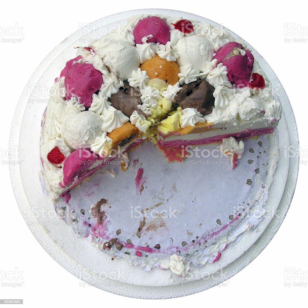 Ice-cream cake royalty-free stock photo
