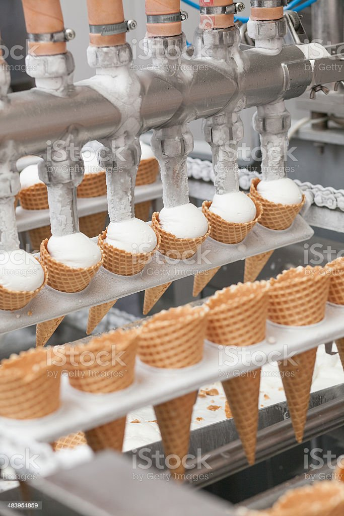 ice-cream on factory royalty-free stock photo