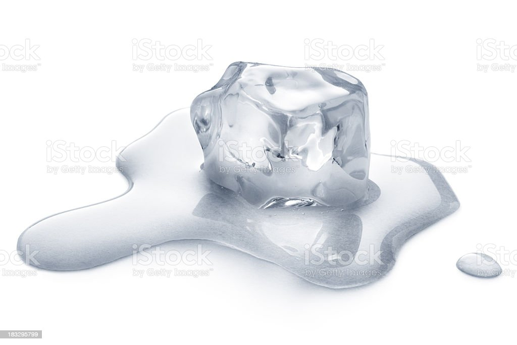 *icecube isolated on white royalty-free stock photo