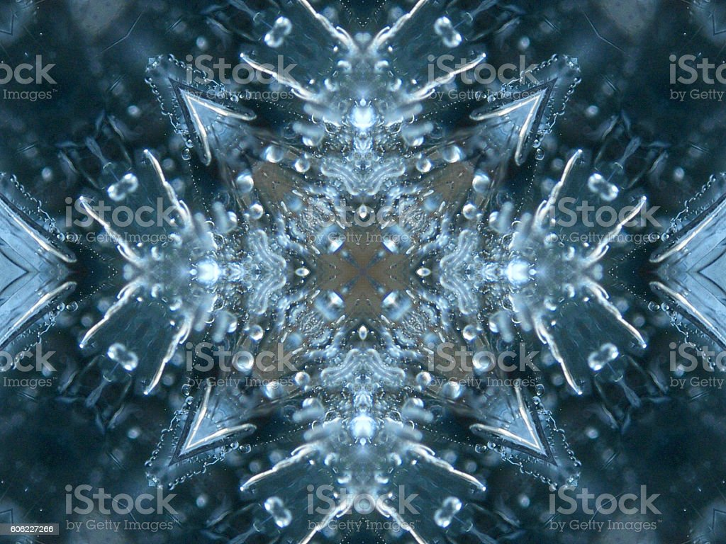 Iced blue background stock photo