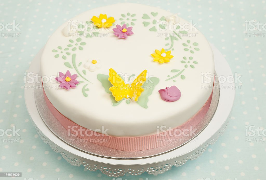 Iced Butterfly Cake royalty-free stock photo