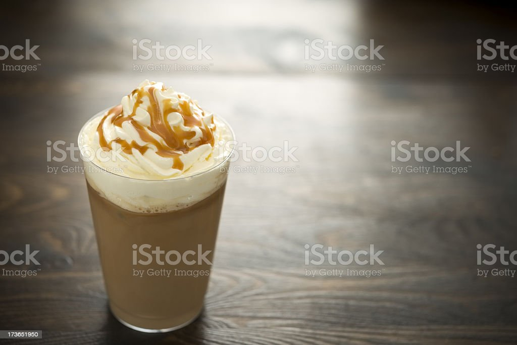 Iced Caramel Coffee stock photo