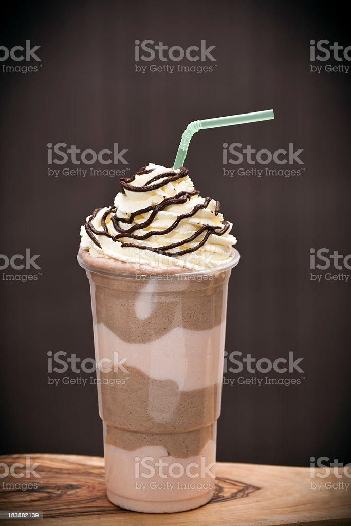 Iced Chocolate and strawberry blended drink royalty-free stock photo