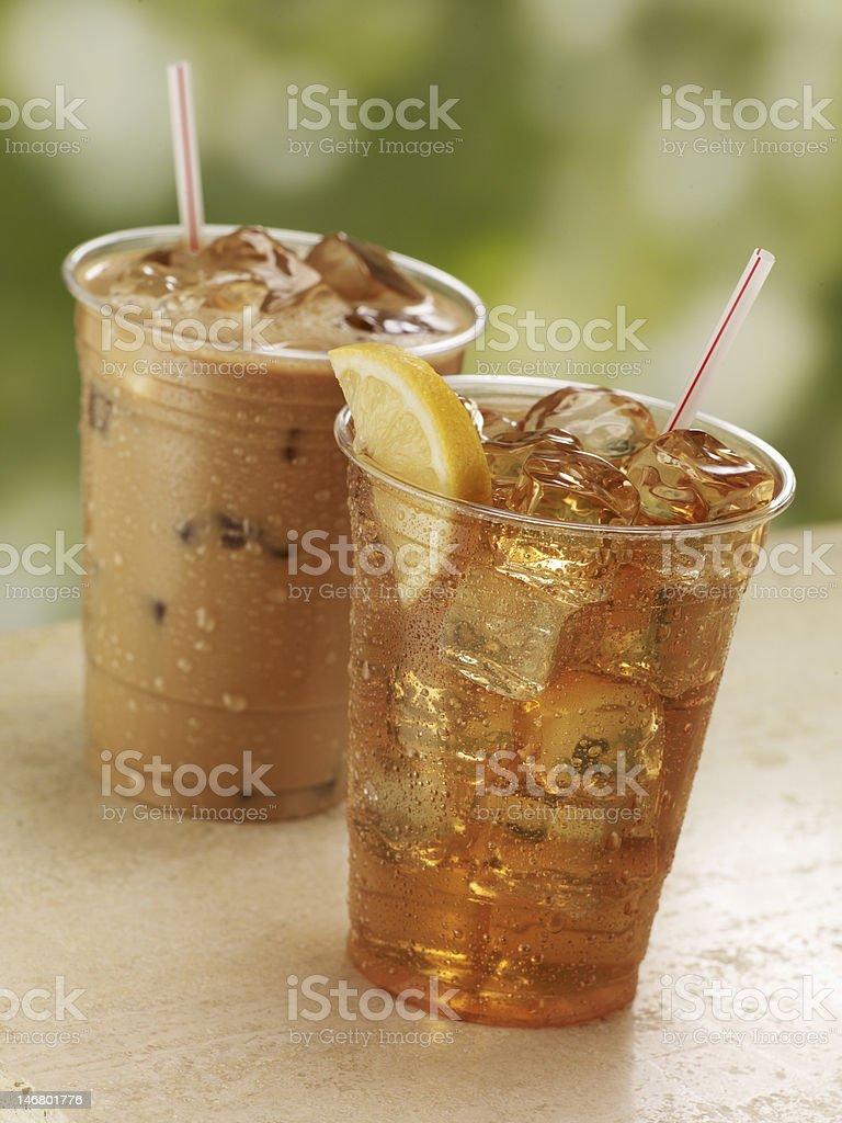 Iced Coffee and Tea royalty-free stock photo