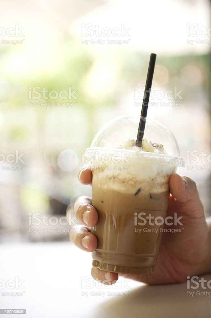Iced Coffee in Hand stock photo
