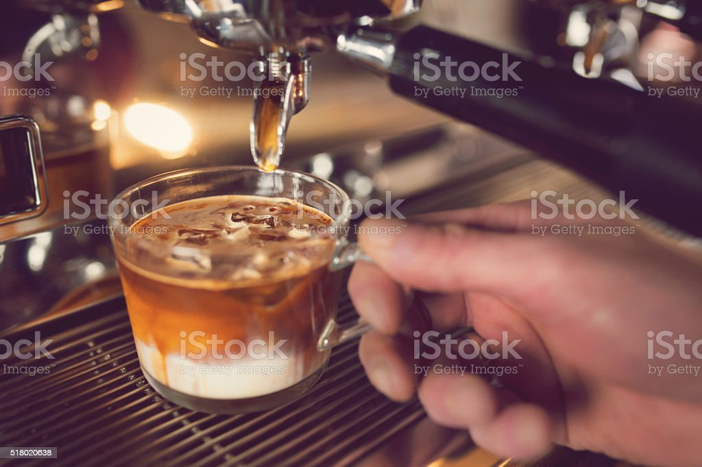 Iced Coffee On The Way stock photo