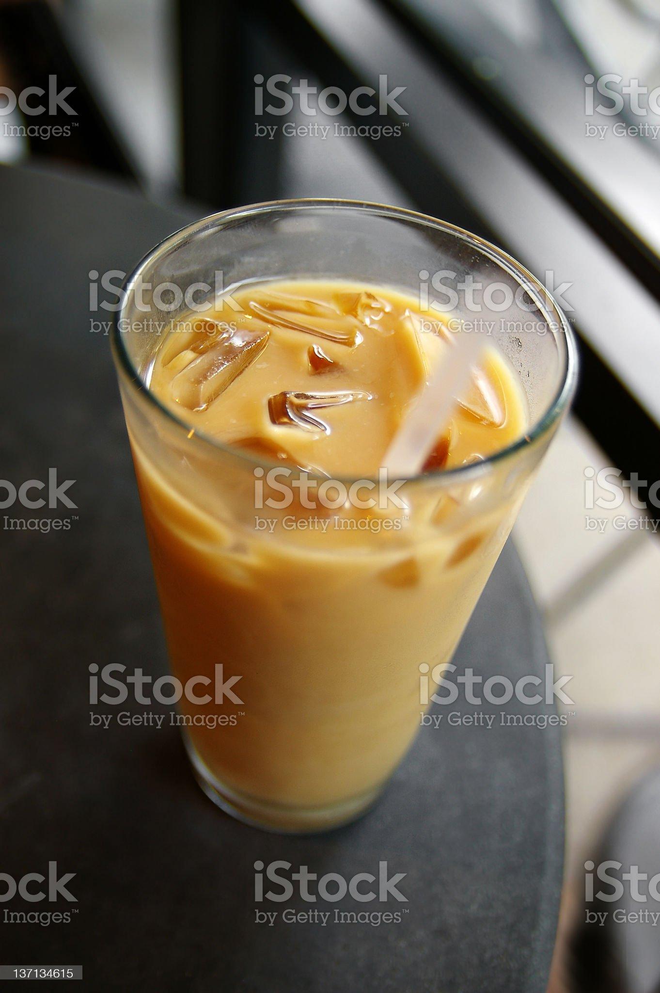 Iced coffee royalty-free stock photo