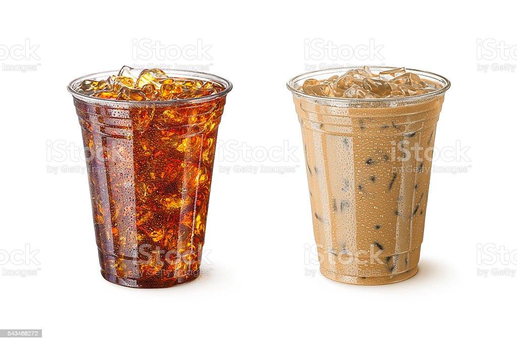 Iced Coffees stock photo