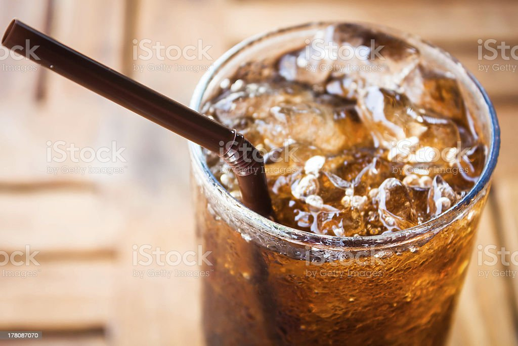 Iced cola stock photo