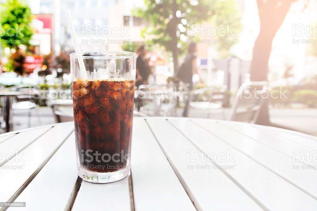 Iced cola stock photo
