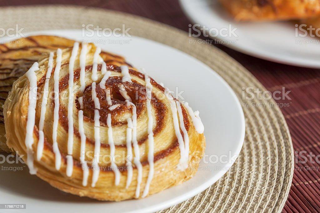 Iced Danish pastry royalty-free stock photo