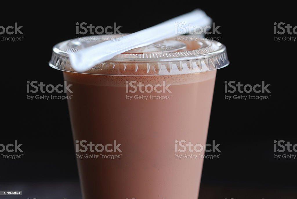 Iced Espresso with Raspberry royalty-free stock photo