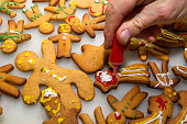 Iced gingerbreads