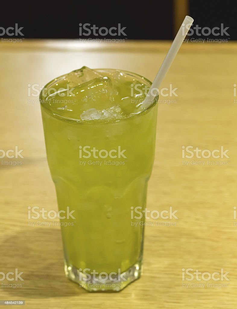 iced green tea flavored royalty-free stock photo