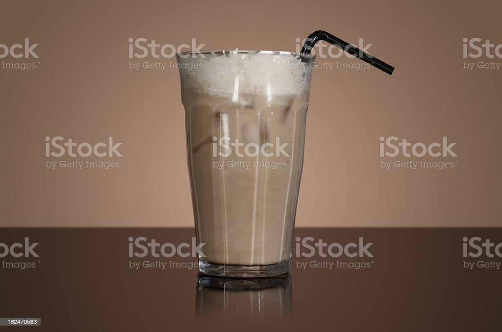 Iced latte royalty-free stock photo