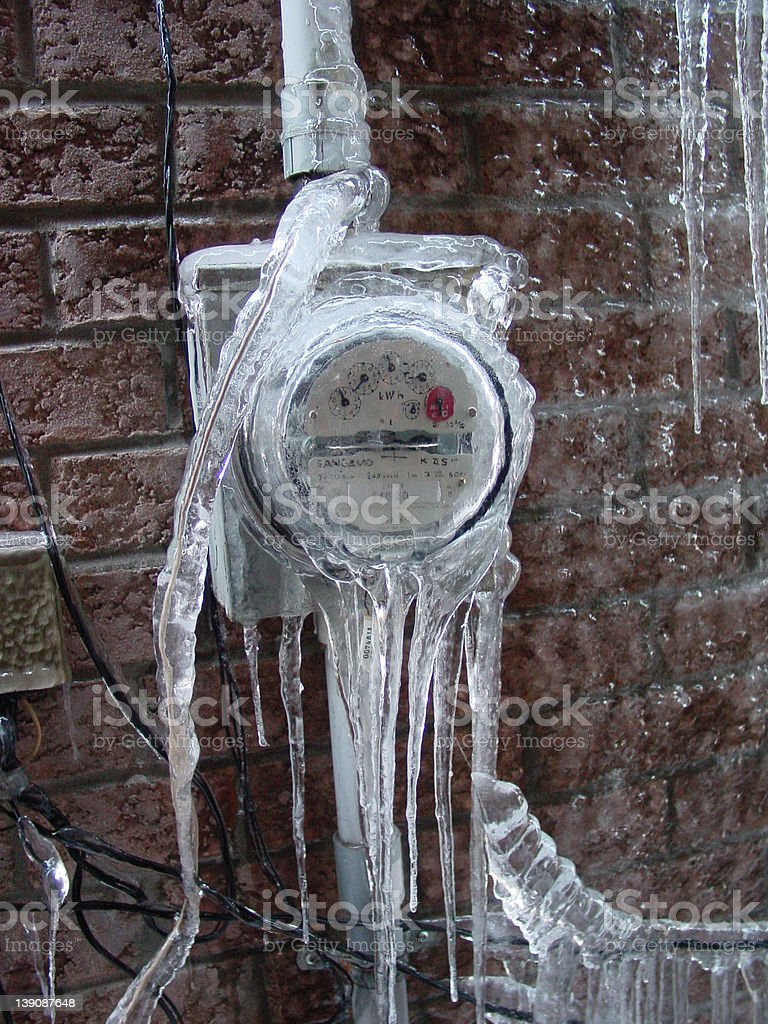 Iced meter royalty-free stock photo