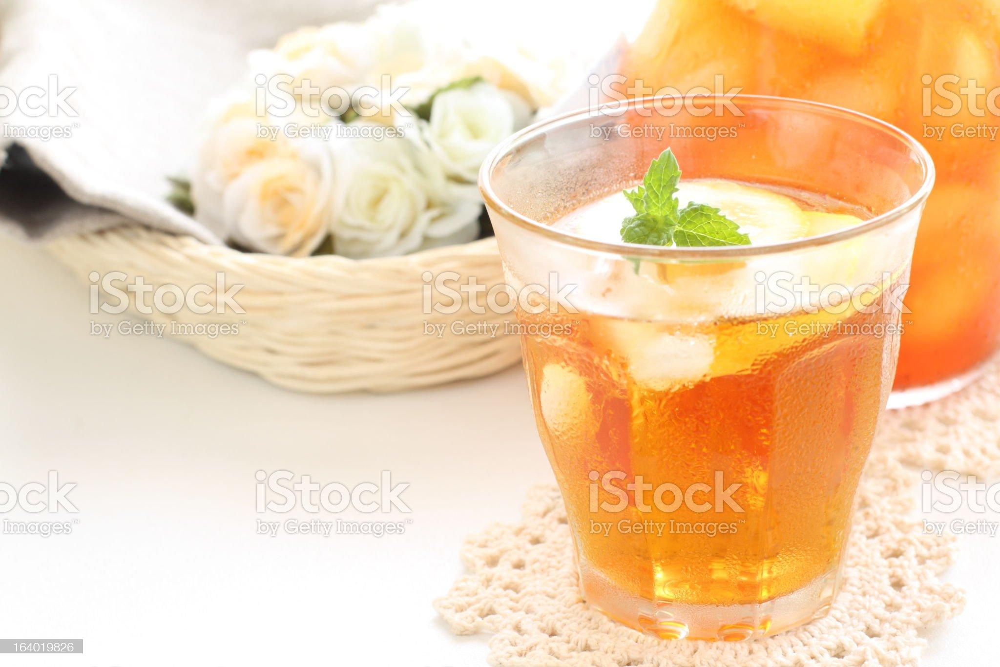 Iced mint tea royalty-free stock photo