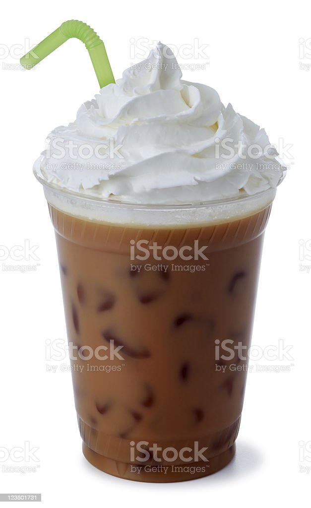 Iced Mocha Coffee with Whipped Cream royalty-free stock photo