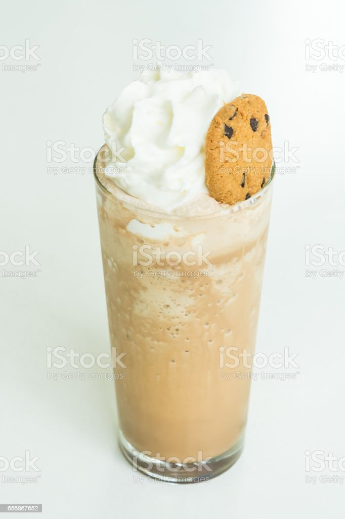 Iced smoothie coffee stock photo