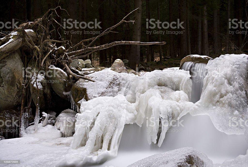 Iced Stream stock photo