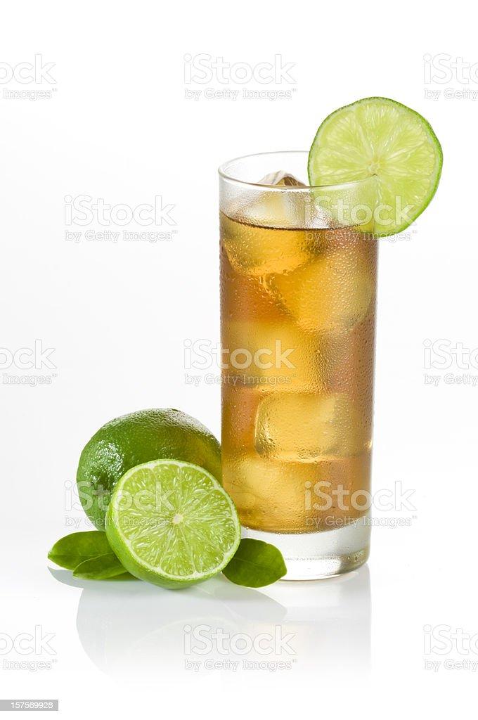 Iced Tea and Lemons stock photo