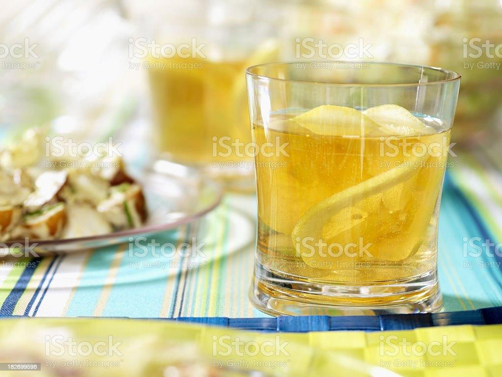 Iced Tea at a Picnic royalty-free stock photo