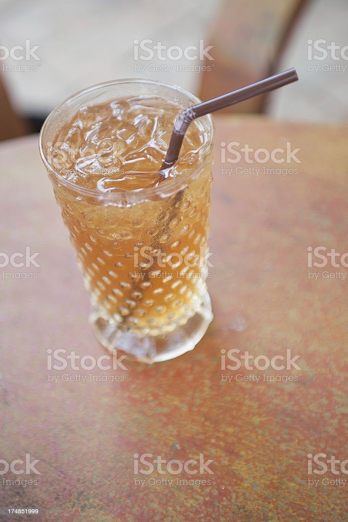 Iced Tea in a glass royalty-free stock photo
