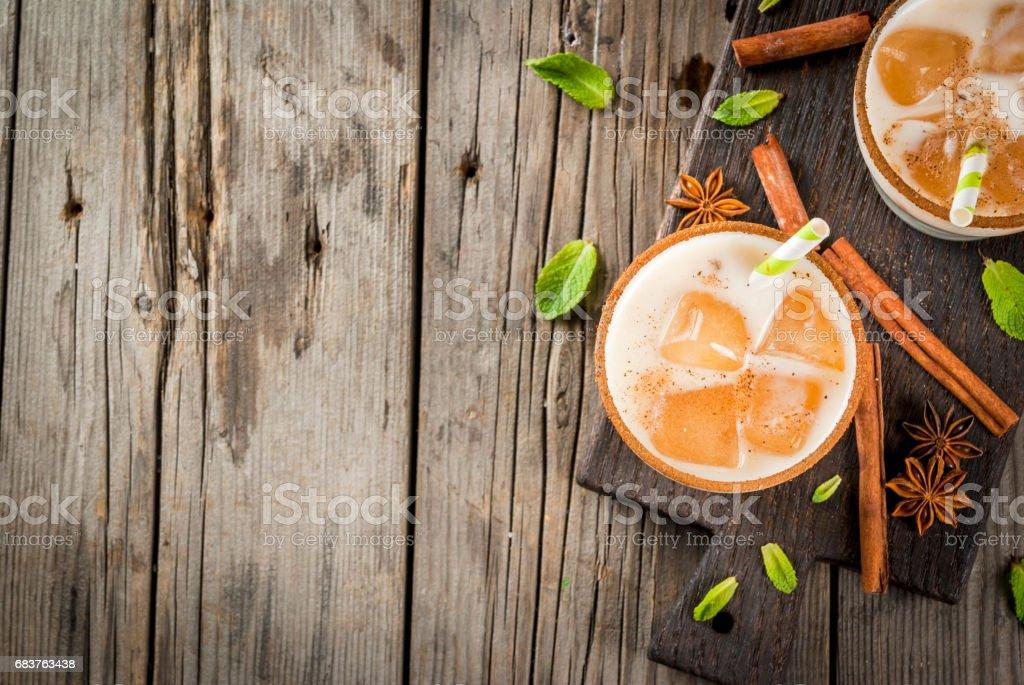 Iced tea or chai masala stock photo