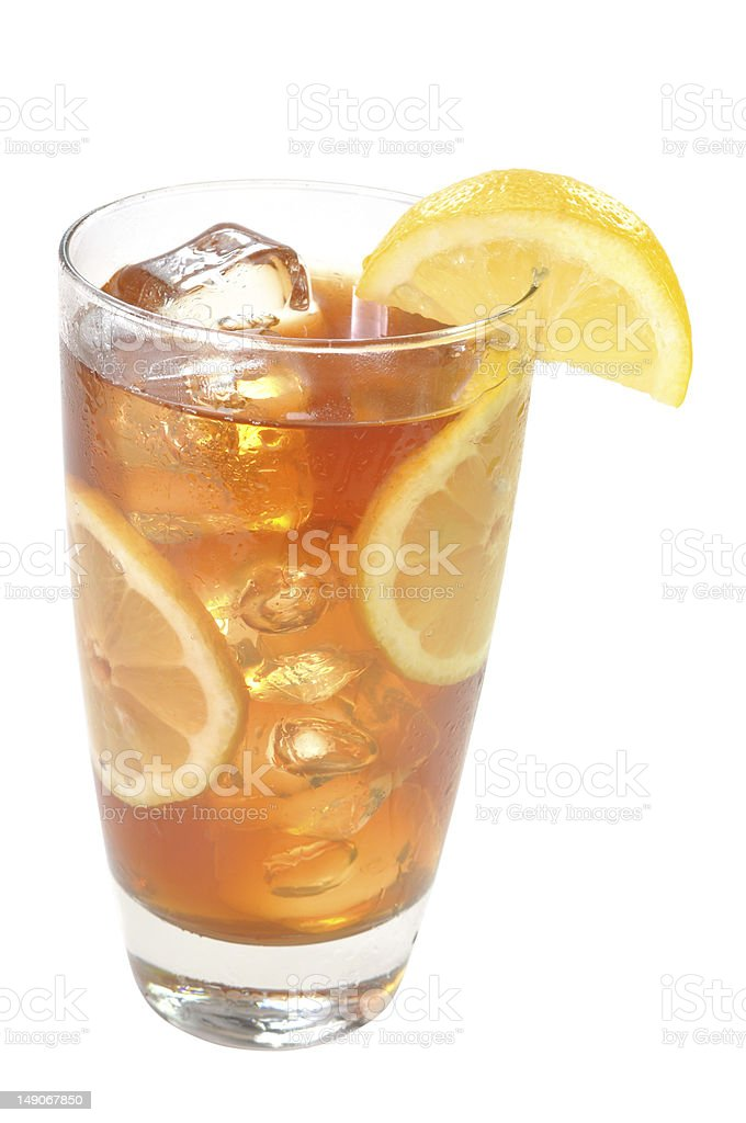 Iced Tea with Lemon Isolated stock photo