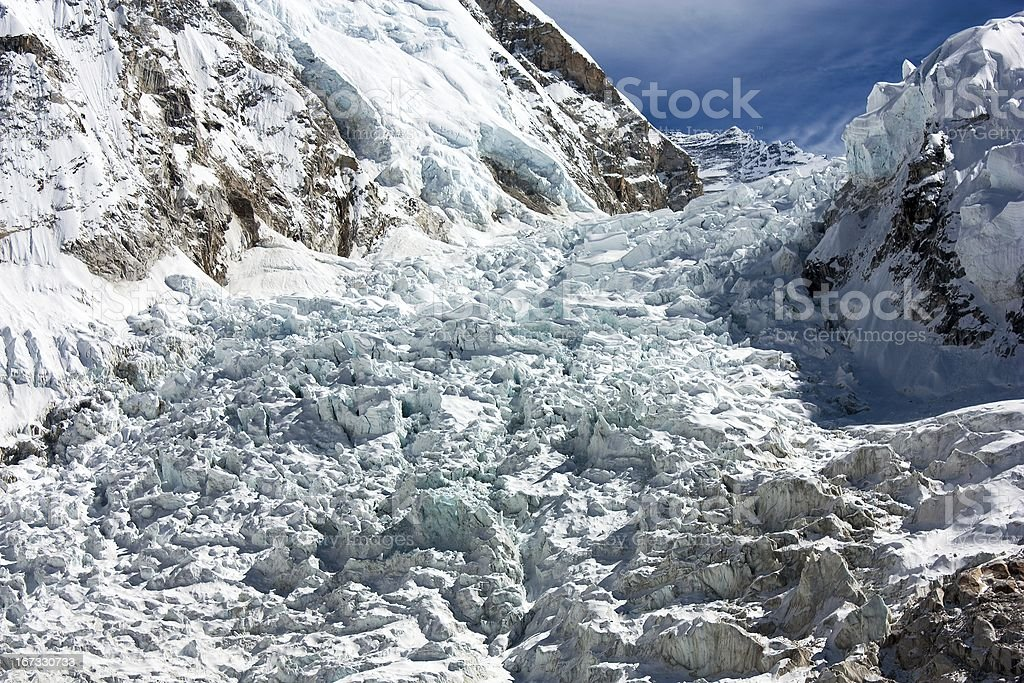 icefall khumbu - view from Everest Base Camp royalty-free stock photo