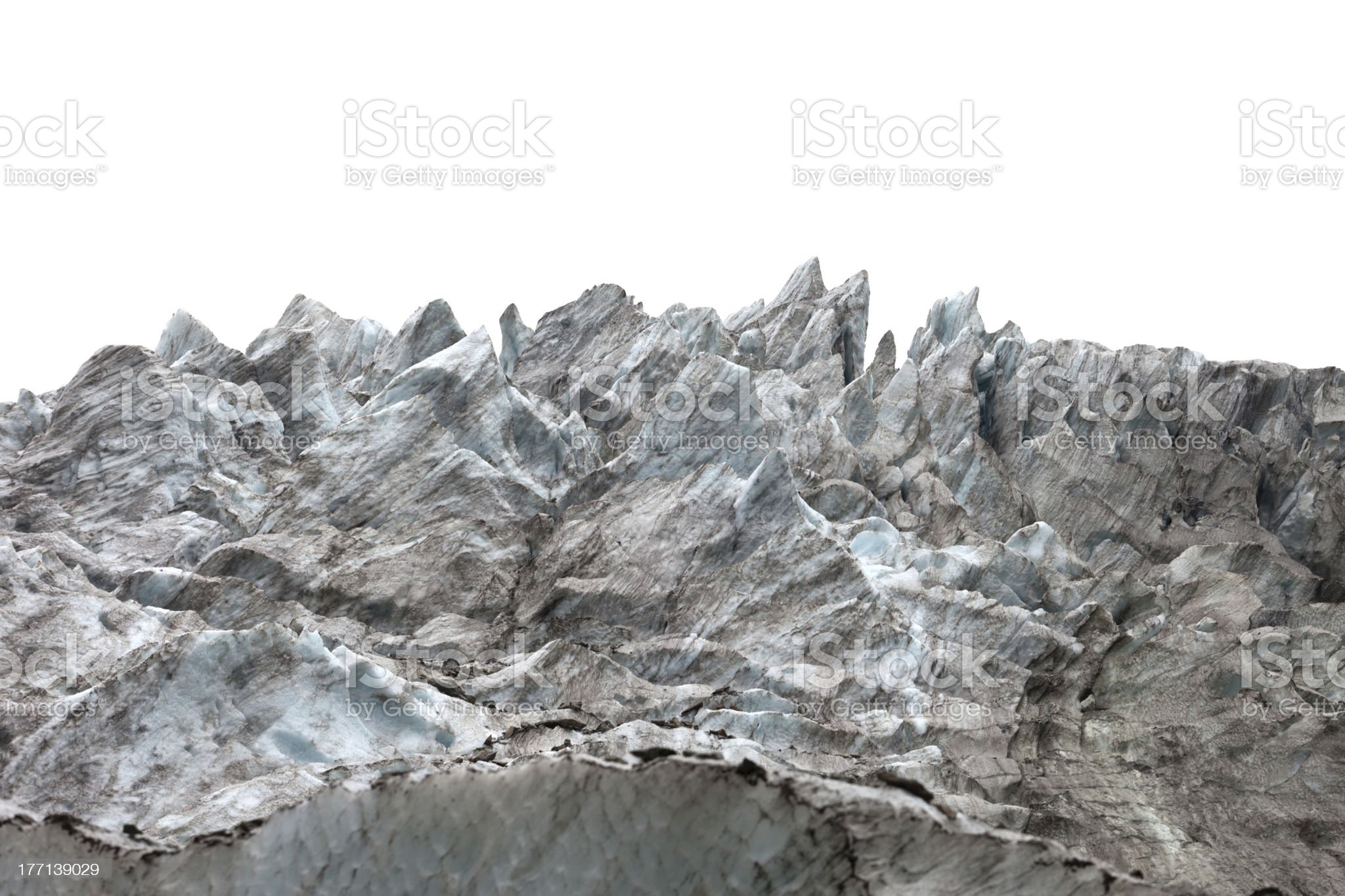 Icefall on white background royalty-free stock photo