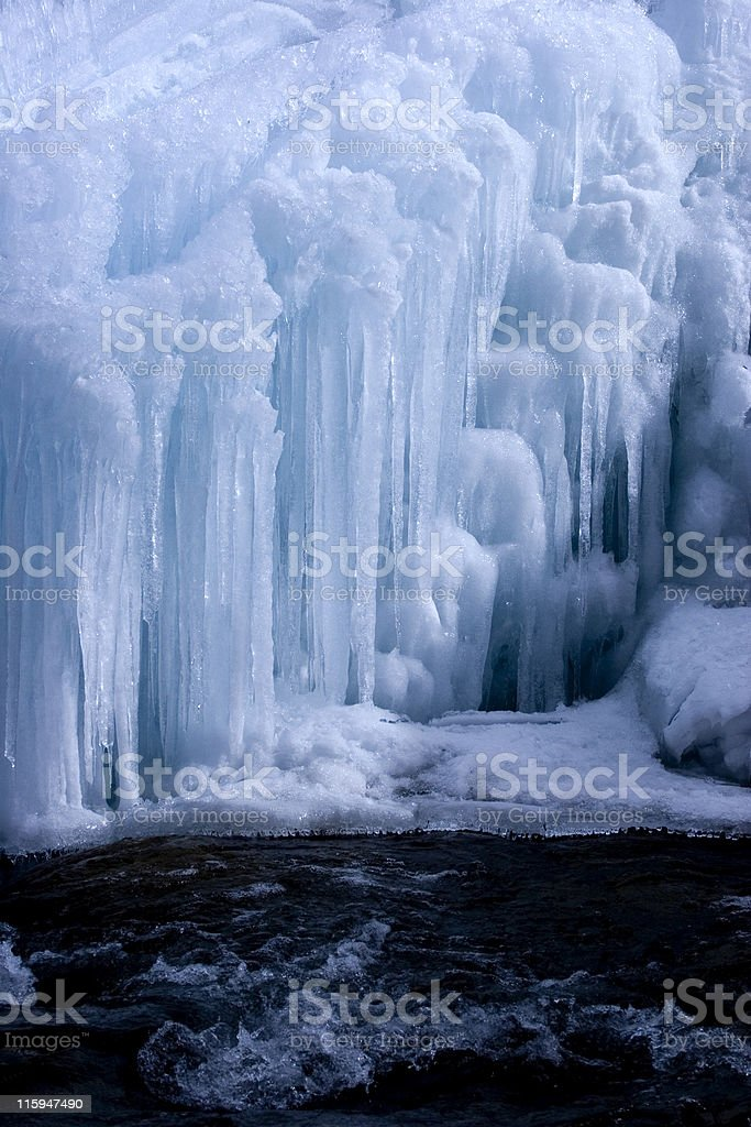 Icefall royalty-free stock photo