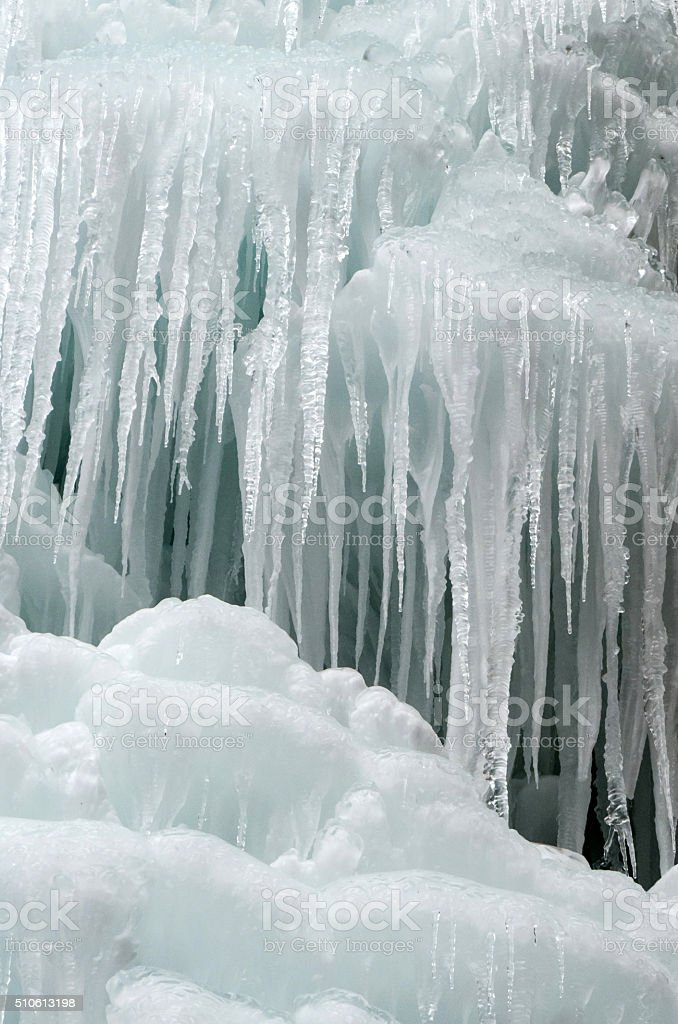 Icefall stock photo