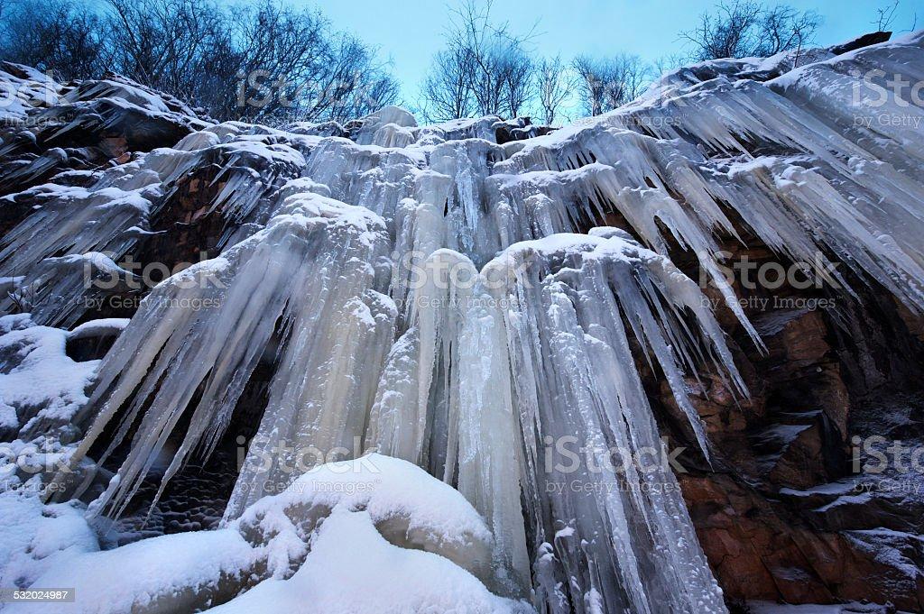 Icefall stock photo